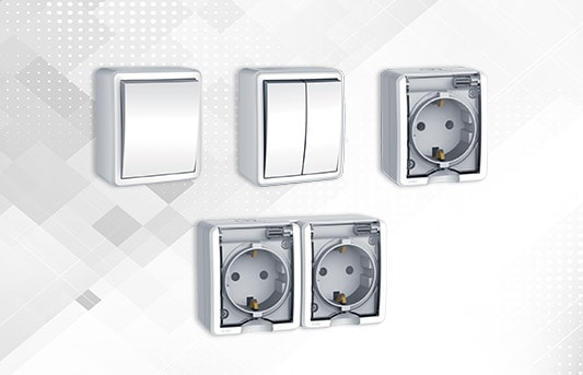 Waterproof switches and sockets