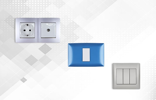 Switches and sockets for home and office