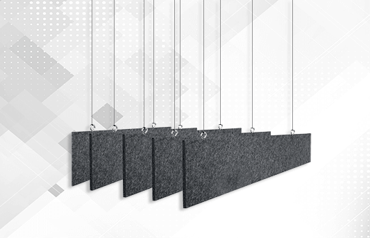Acoustic lighting fixtures and baffles